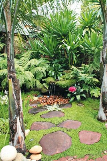 Top Tropical Backyard Garden Ideas - Stylendesigns on Small Tropical Backyard id=99649