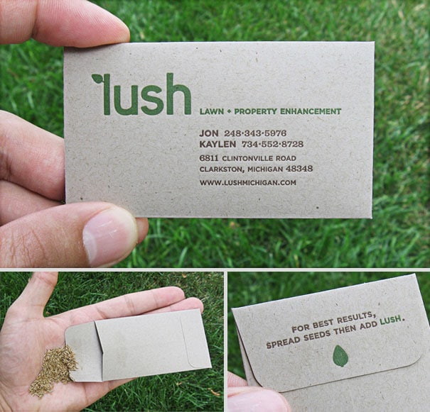 17Lawn and Property Enhancement-Thirty Smart and Innovative Business Cards Ideas