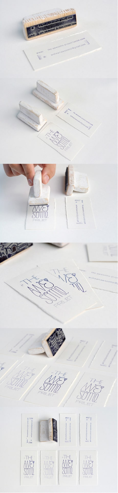 23Handmade Minimalist card-Thirty Smart and Innovative Business Cards Ideas