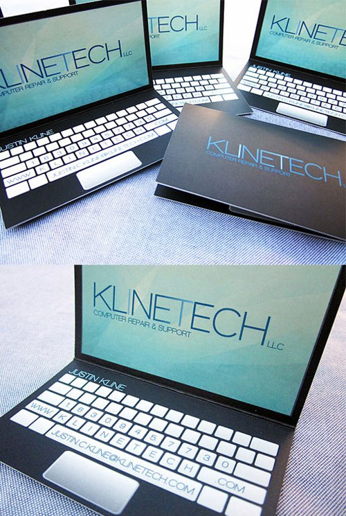 28laptop-businesscard-Thirty Smart and Innovative Business Cards Ideas