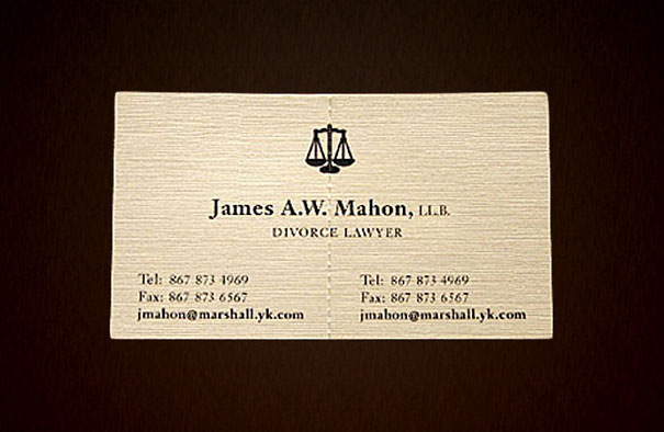 5tearable divorce lawyer business card-Thirty Smart and Innovative Business Cards Ideas