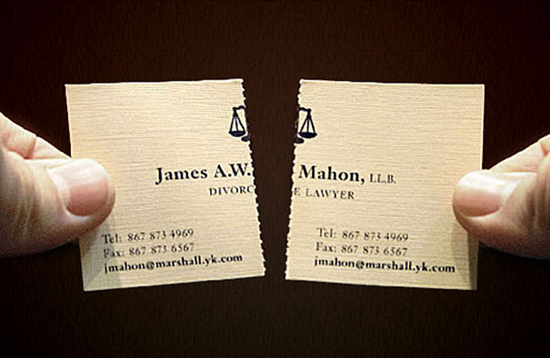 5tearable divorce lawyer business card2-Thirty Smart and Innovative Business Cards Ideas
