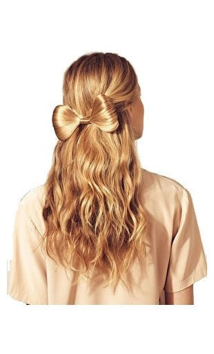 Add some bow-Best Hairdo Ideas for Busy Young Women-13