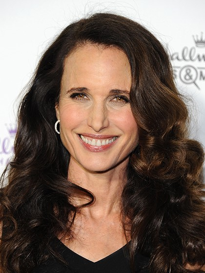 Andie Macdowell Long Waves-10 Short Hairstyles For Women Over 50-10