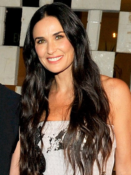 Demi Moore Crazy Long Waves-10 Short Hairstyles For Women Over 50-9