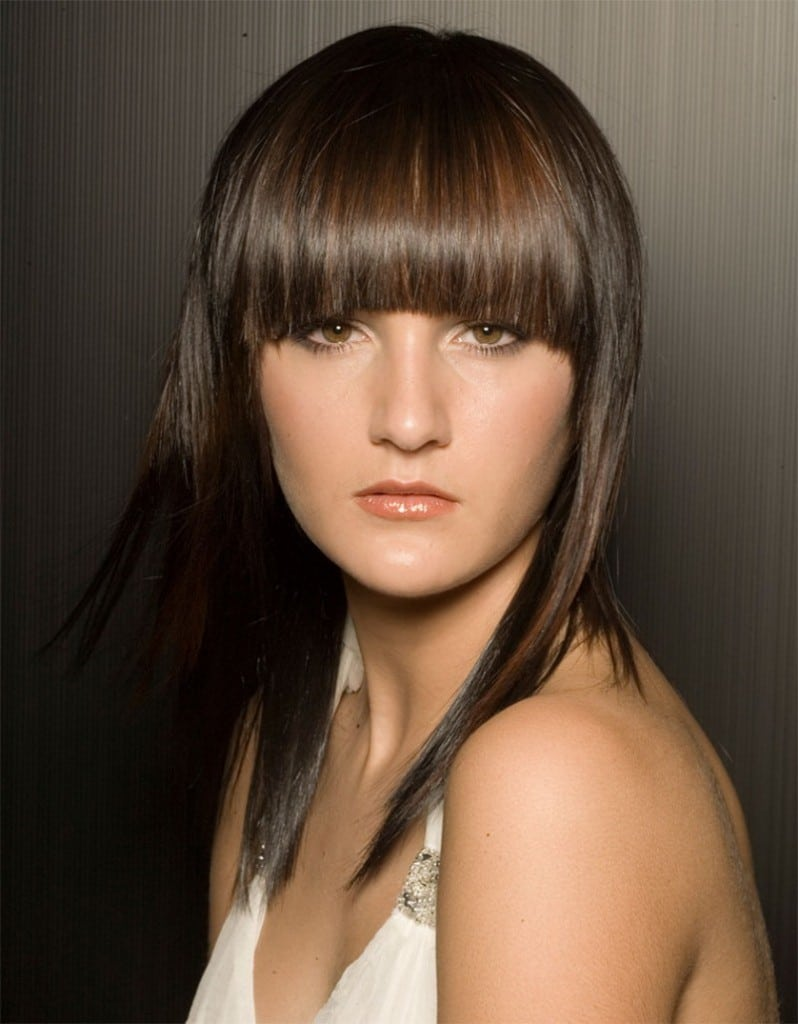 Full Fringe-Medium Hairstyles To Make You Look Younger-9