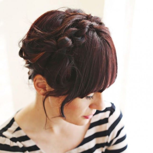 Knotted Milkmaid Braid-10 Creative Hair Braid Style Tutorials-8