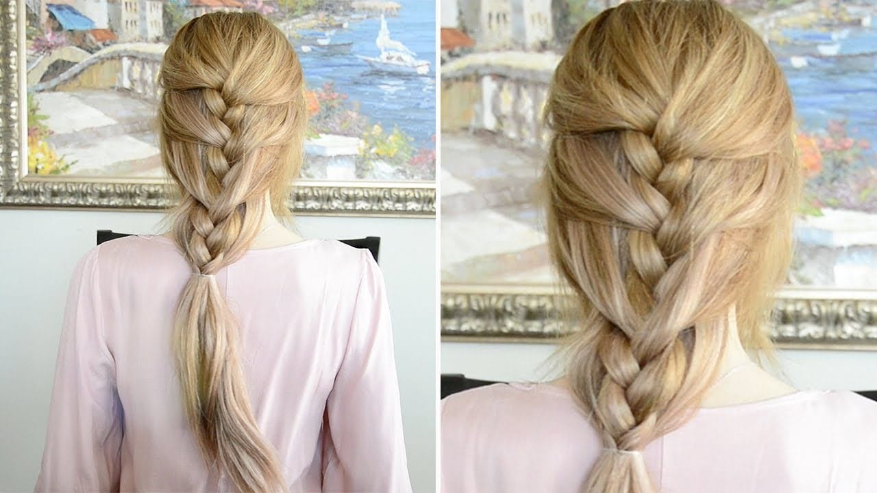 Relaxed French Braid-10 Creative Hair Braid Style Tutorials-4