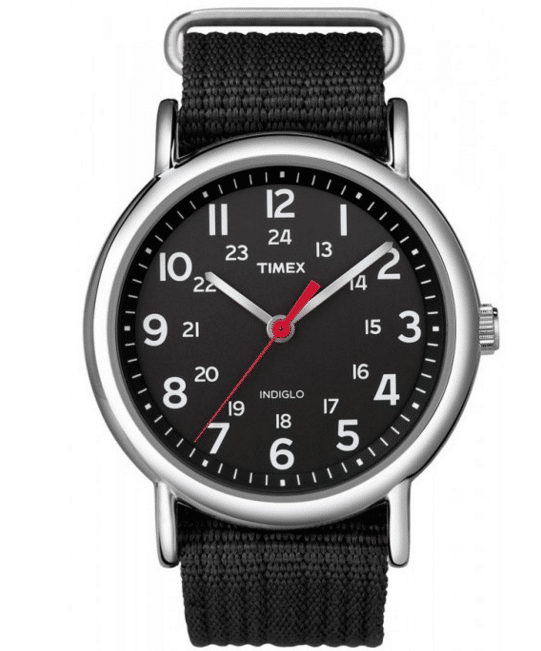 Timex Mens Weekender Analog Black Canvas Strap Watch-12 Black Watches Which Would Make You Drop Your Jaw-3