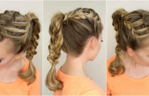 Triple French Braid-10 Creative Hair Braid Style Tutorials-7