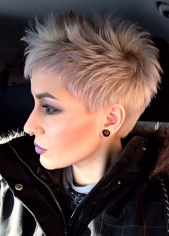 Short and Punky Hairstyle