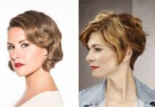 Short hairstyle for woman over 40