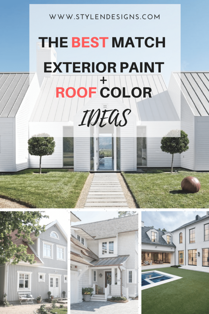 How To Pick The Exterior Paint Colors Match Best With The Roof Stylendesigns