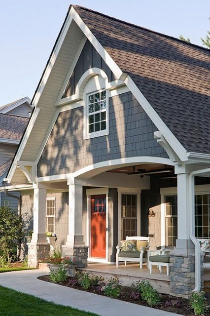 How to pick the exterior paint colors match best with the roof stylendesigns for Blue grey exterior house paint