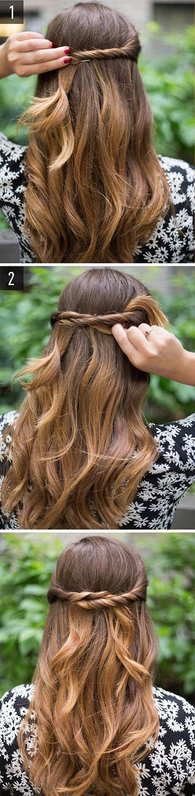 classic hairstyles twisted halo