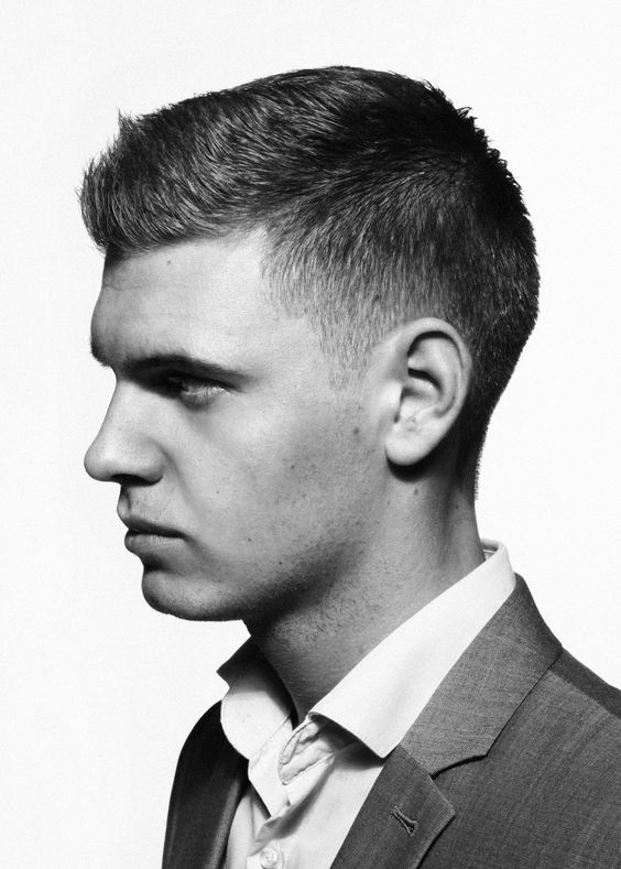 # Crew cut haircut for men with thick hair