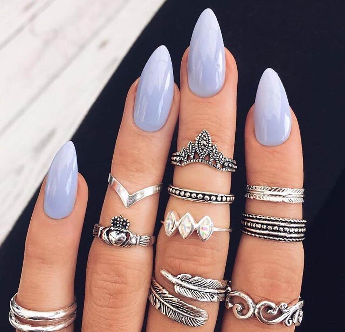 20 Worth Trying Long Stiletto Nails Designs Stylendesigns