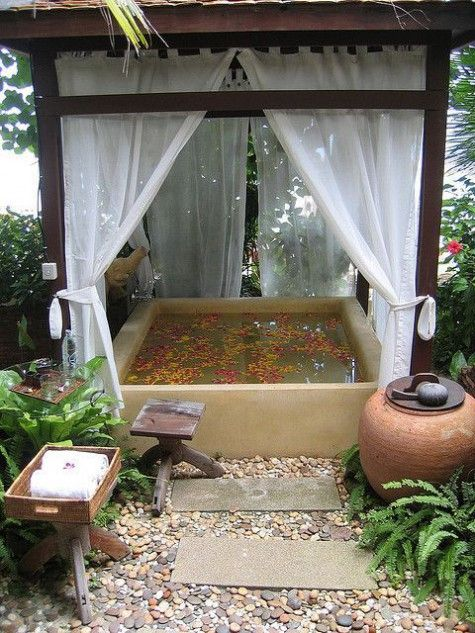 Nice Outdoor Spa Amp Hot Tub Design With Rock Stylendesigns