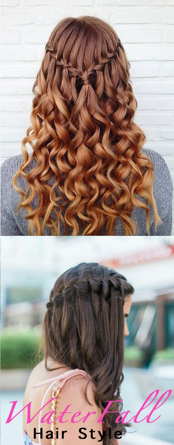 Water Fall Hair Style