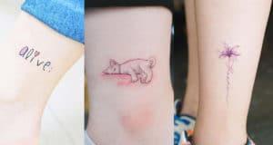 cute ankle tattoo