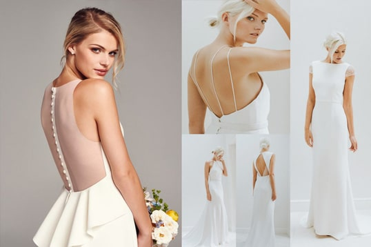 minimalist wedding dress