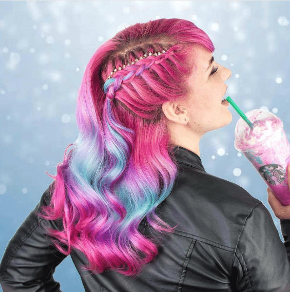 hair color unicorn frappuccino inspired style amp designs