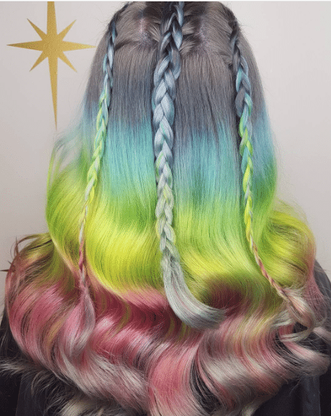 Unicorn Cappuccino hair color