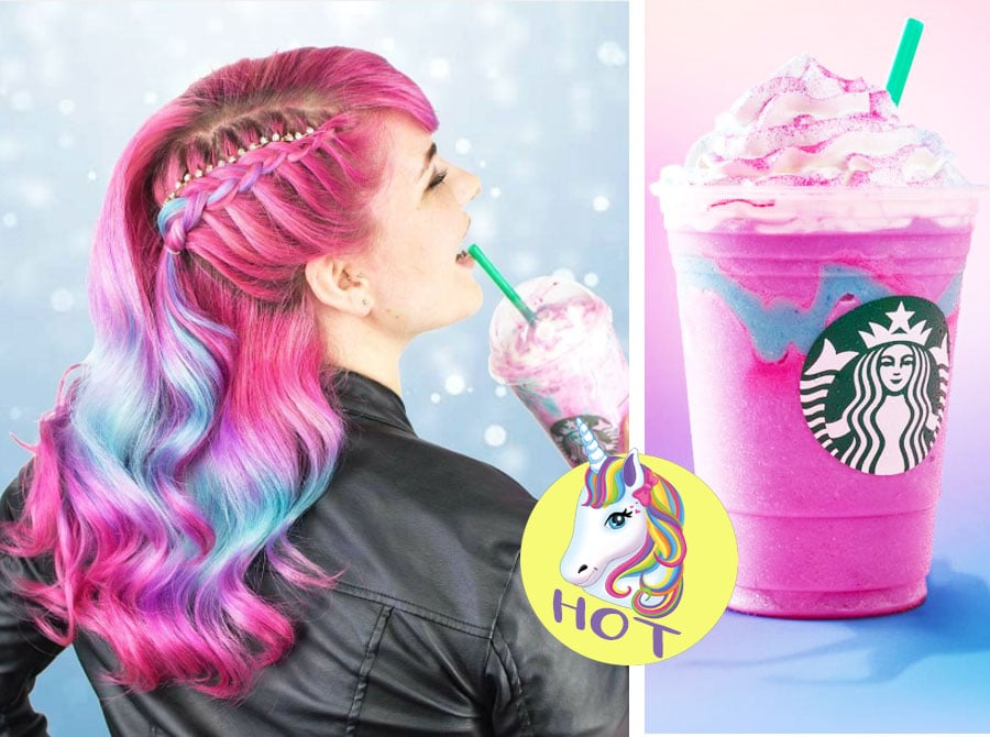 Hair Color | Unicorn Frappuccino inspired
