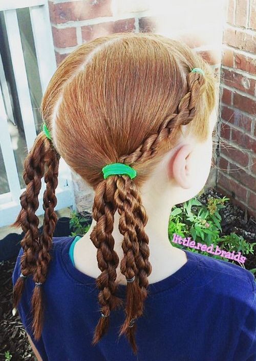 Pigtails with Chain Link Braids