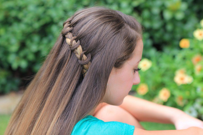 cute braided hairstyles Waterfall Twist