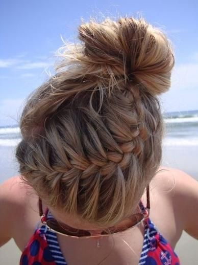 Gym Braid Combo Hairstyle