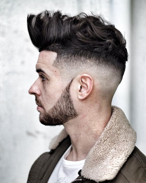 Bald Fade Hard Part and Disconnected Beard source