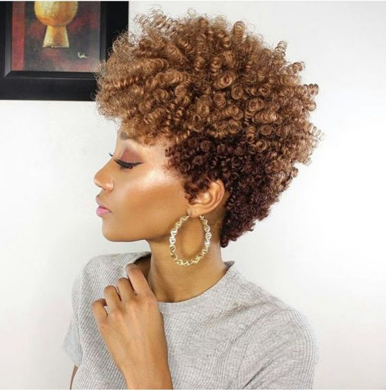 Golden brown tapered cut