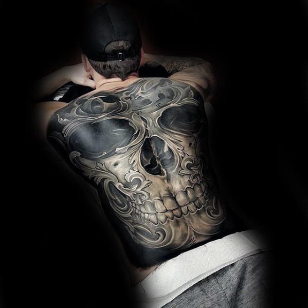 3D Skull Tattoo For Men