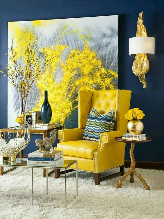 Enter Freshness Using Unique Yellow Living Room Ideas Decor Details