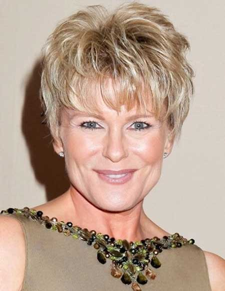 Short Hairstyle For Older Woman With Fine Thin Hair