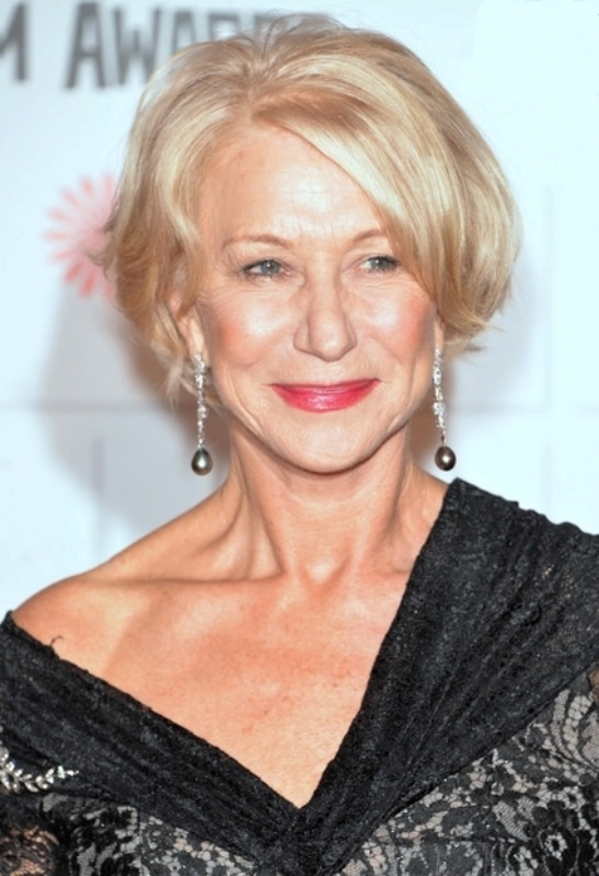 Hellen Mirren's crop with full fringe
