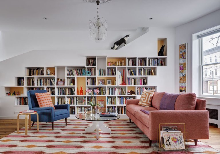 An Ideal Home for Cats and Book Lovers in Brooklyn, NY