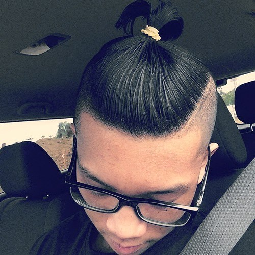 Top Ponytail with Shaved Sides
