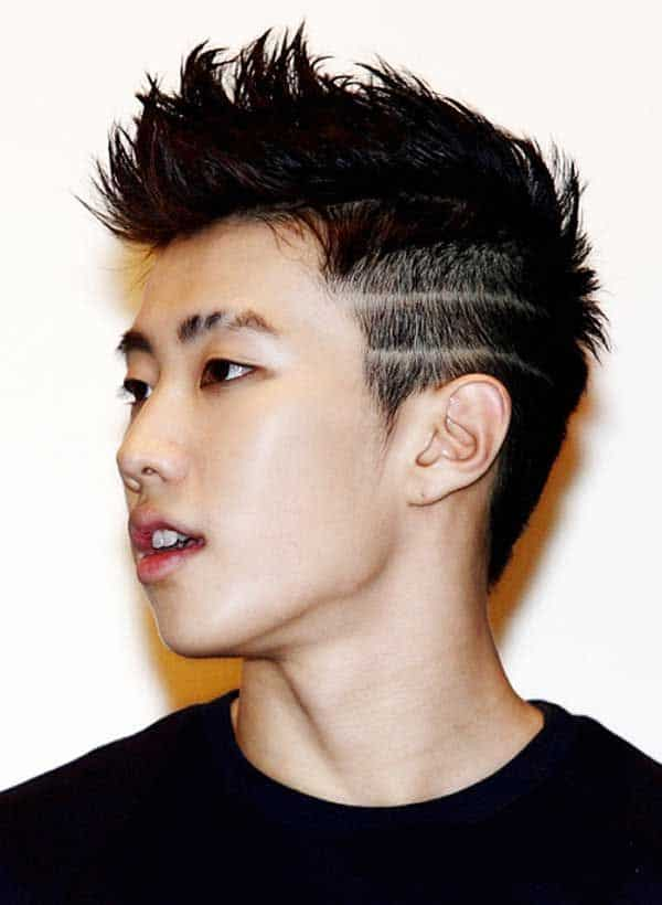 Spiked hairstyle