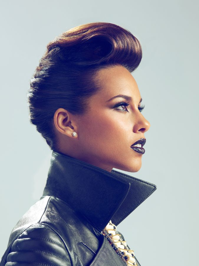 Alicia Keys' bouffant crop