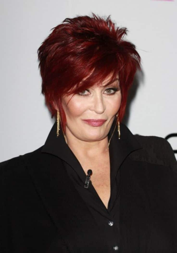 Sharon Osbourne's cherry red crop