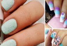 cotton candy nail