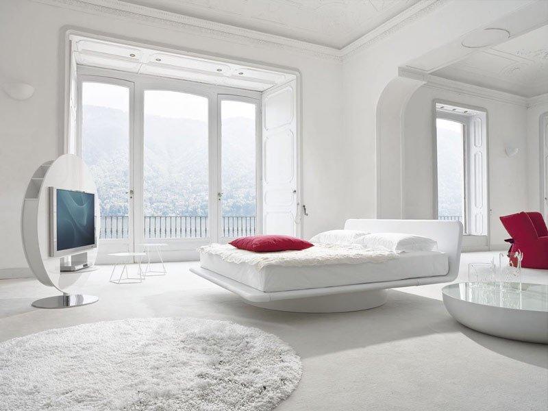 Futuristic White Bedroom Designs